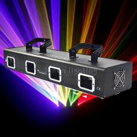 Buy cheap Small Power 4 Lens Four Head RGBY Multi Color Beam DJ KTV Laser Light Projector product