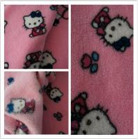 Buy cheap 100% Polyester Hello Kitty Printed Coral Fleece Fabric product