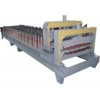 Buy cheap Galvanized Steel Double Layer Roll Forming Machine With HRC50 - 60 Heat Treatment product