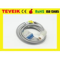 Buy cheap Mindray 5 leads ECG Cable For Patient Monitor with IEC / Round 12pin from wholesalers