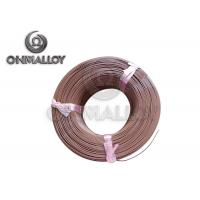 Buy cheap PTFE insulation Thermocouple Cable Type T 24 AWG 20 AWG Brown Color product