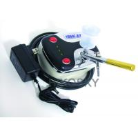 Buy cheap Mobile Gravity Feed Airbrush Tanning Kit Machine with Oil Free Compressor and Gun 30PSI product