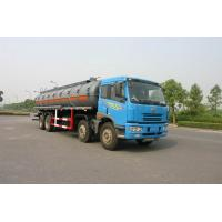 Buy cheap 24.5 cbm Chemical Liquid Tanker Truck 6x4 For logistic Industries product