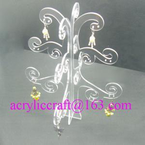 Estante de exhibición de acrílico de la forma transparente elegante del árbol para el pendiente