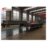 Buy cheap Detachable Hydraulic Low Flatbed Semi Trailer For Mining And Forestry Machinery product