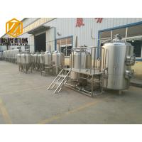 Buy cheap 2500L Beer Production Line , Automatic PLC Control Craft Beer Equipment Steam Heated product