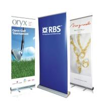Buy cheap Waterproof Roll Up Banner Display Dye Sublimation Full Color Printing Reusable product