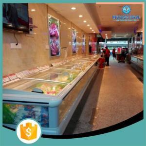 China Electric Powered Supermarket Island Freezer R22/R404a Refrigerant on sale