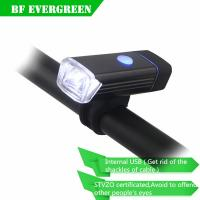 Buy cheap USB Rechargeable Bike Front Light Bicycle Accessories Lithium Battery High Power Cycling Bicycle LED Head Light Waterpro product