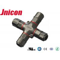 Buy cheap Field Installable Waterproof Wire Connectors 4 Way With Gold - Plated Contact Pin product