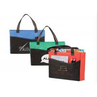 Buy cheap Convention Recycling Non Woven Gift Bags With Logo Pocket  Foldable Business Branded product