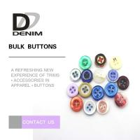 Buy cheap Round Natural Imitation White Shell Buttons For Women'S Clothing product