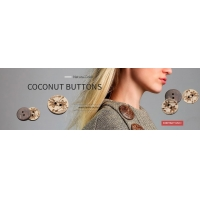 coconut button layered pattern