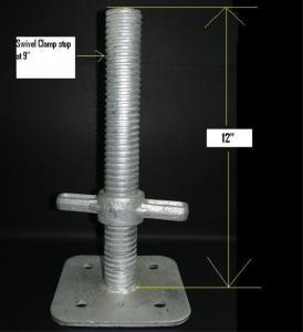 China Sistema galvanizado Jack baixo ajustável do andaime, base ajustável de Jack do andaime wholesale