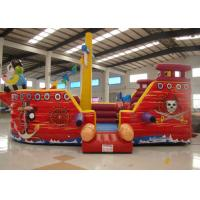 Buy cheap Double Stitching Pirate Bounce House , Pirate Ship Inflatable Bouncer 10 X 5 X 4m product
