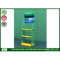 Buy cheap Attractive 3 tiers oil bottle floor standing lubricant motor engine oil industry display shelf rack lubricating product