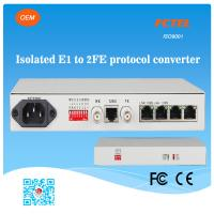 Buy cheap FCTEL E1 2 à la fibre d'Ethernet des canaux 100Mbps a contrôlé le convertisseur de protocole product