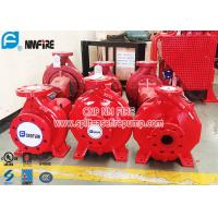 Buy cheap UL FM Double Authentication Single Stage End Suction Pump , Diesel Engine Fire Pump from wholesalers