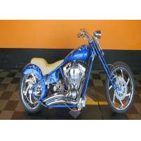 China Bright Blue 110cc Pocket Bike Harley Mini Chopper Fast Speed With Real Leather wholesale