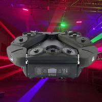 Buy cheap Unlimited Rotation 9 Eyes RGB Laser Spider Beam Moving Head Lights DMX product