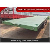 Buy cheap 3 Axles Flatbed Container Trailer for Carry Container , Hoses , Cement Bags product