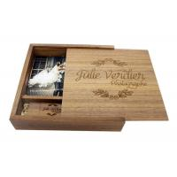 Buy cheap Natural Wood 4 * 6 Inches Wooden Photo Boxes For Photographers Square Shape product