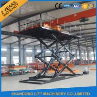 Buy cheap CE 3T 4.8M Hydraulic Scissor Car Lift For Parking Scissor Type Basement Car Lift from wholesalers