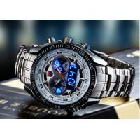 Buy cheap Silver Case Dual Time Wrist Watches product