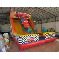 Buy cheap Classic Red Colour Interesting Inflatable Car Slide 0.55mm PVC Tarpaulin Material product