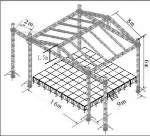 Buy cheap コンサートの屋根の段階 760mm x 600mm が付いているアルミニウム段階のトラス タワー product