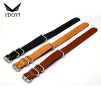 Buy cheap Brown Color Watch Band Replacement 22mm Handmade Leather Watch Band For Womens product