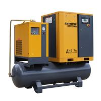 Buy cheap Airhorse Portable screw air compressor 7.5kw,10hp combined with dryer,air tank and line filters product