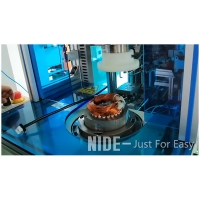 Double ends stator coil winding lacing machine