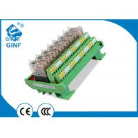 China 24 VDC OMRON PLC Relay Module JR-8L2 DIN Rail Mounting NPN And PNP Compatible on sale