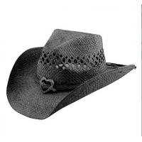 China chapeau de cowboy de la paille 100%nature wholesale
