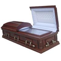 Buy cheap Custom Color Wooden Coffins With Medium - Density Fiberboard Material product
