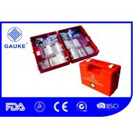 China DIN13157 Medical First Aid Kit ABS First Aid Box With Wall Bracket And Handle on sale