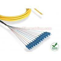 Buy cheap SC Single Mode Fiber Pigtails 12 Cores , Distribution Fiber Optic Cable from wholesalers