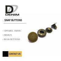 Buy cheap 22L Antique Brass Brushed Metal Snap Buttons Custom Press 4 Part Button product