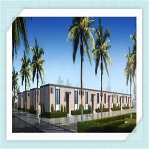 Environmental Prebuilt Modular Steel Garage Buildings Home With Kitchen , Toilets