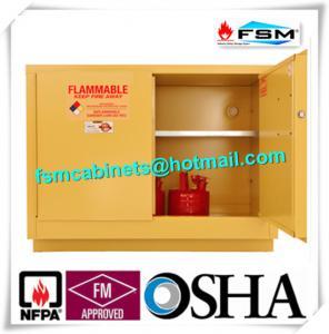 Buy cheap シリンダー/ペンキ/化学薬品のための証拠の 危険物 の収納キャビネットの単一のドアを炎にあてて下さい product