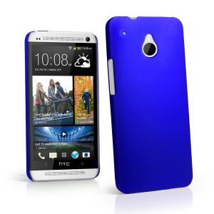 Cajas plásticas duras de goma azules del teléfono del ODM para el HTC One Mini M4