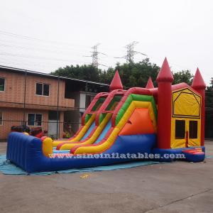 4 In 1 Amusement Park Inflatable Bounce Houses Rentals EN14960 Approvals