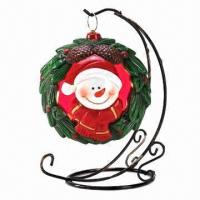 Buy cheap Resin Cutie Christmas Snowman Wreath Tealight product