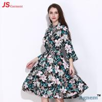 Buy cheap Chiffon Speaker Sleeve Long Casual Dresses For Women Floral Printed product