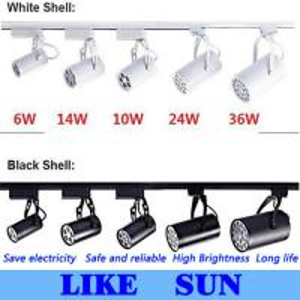 Buy cheap FREE SHIPPING Cool white Led Track Light 14W 120 Beam angle Led Ceiling Spotlight AC 85-265V led spot lighting + CE product