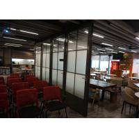 Buy cheap Movable Glass Wall Panels , Custom Colors Glass Wall Panels Anodized Full Range product
