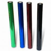 Buy cheap Hot Stamping Foils for Textiles, Available in Various Colors and Widths, 12 Microns Thickness product