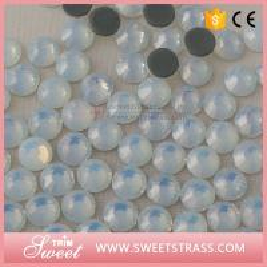 China MC Flatback Crystal Hot fix Loose Rhinestone White Opal Trims Accessories Bags Shoes Dress Jewelry Studsl on sale