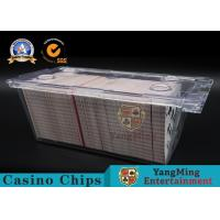 Buy cheap Clear Acrylic 1 - 8 Deck Playing Card Box 300pcs Free Locks With Metal Handle product
